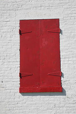 Red Window Poster by Frank Romeo