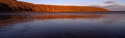 Reflection Of A Hill In Water, Filey Poster by Panoramic Images