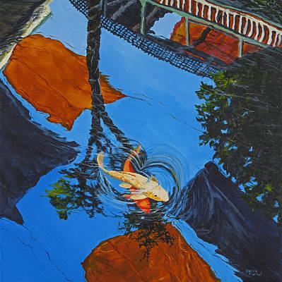 Reflections Of The Wharf Poster by Darice Machel McGuire