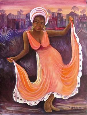 Reggae Night Poster by Carol Allen Anfinsen
