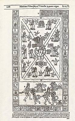 Reign Of Aztec Ruler Tenoch Poster by Middle Temple Library