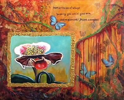 Release -- My Trail Of Tears Poster by Carol Allen Anfinsen