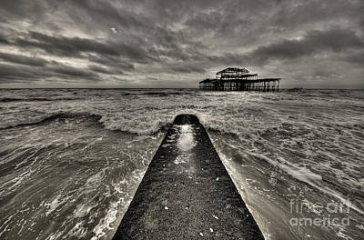 Remains Of The Pier  Poster by Rob Hawkins