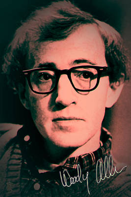 Remembering Woody Allen Poster by Li   van Saathoff