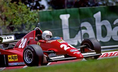 Rene's Ferrari Poster by Mike Flynn