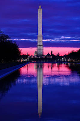 Repairing The Monument I Poster by Metro DC Photography