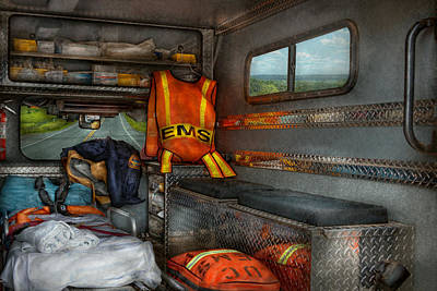Rescue - Emergency Squad  Poster by Mike Savad