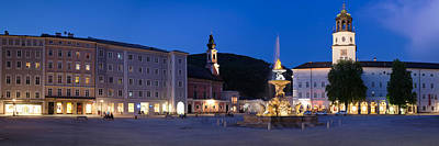 Residenz Fountain And Michaeliskirche Poster by Panoramic Images