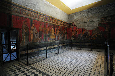 Restoration Of Roman Frescoes Poster by Pasquale Sorrentino