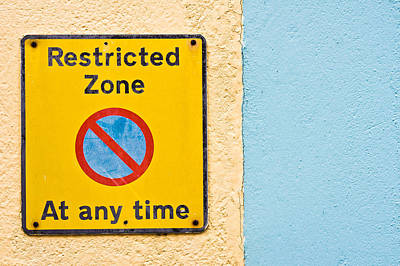 Restricted Zone Poster by Tom Gowanlock