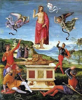 Resurrection Of Christ Poster by Raffaello Sanzio