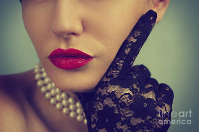 Retro Portrait Poster by Jelena Jovanovic