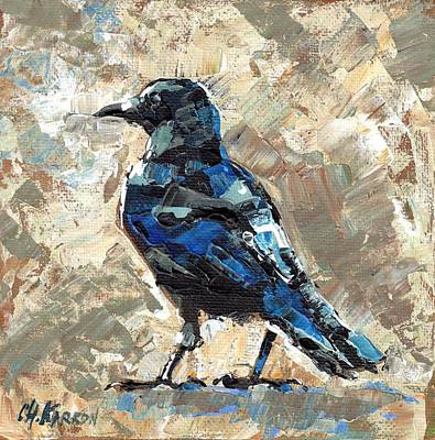 Revelstoke Crow Poster by Christine Karron