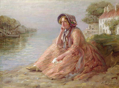 Reverie Oil On Canvas Poster by Arthur Percy Dixon