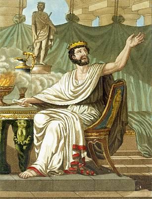 Rex Sacrificulus, Illustration Poster by Jacques Grasset de Saint-Sauveur