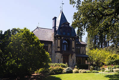 Rhine House At Beringer Winery St Helena Napa California Dsc1719 Poster by Wingsdomain Art and Photography