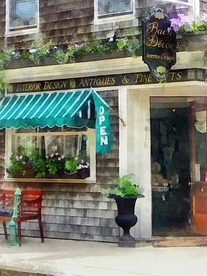 Rhode Island - Antique Shop Newport Ri Poster by Susan Savad