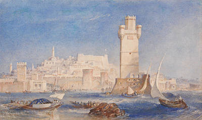 Rhodes Poster by Joseph Mallord William Turner