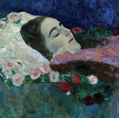 Ria Munk On Her Deathbed Poster by Gustav Klimt