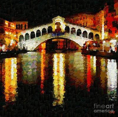 Rialto Bridge Poster by Dragica  Micki Fortuna