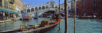 Rialto Bridge Over The Grand Canal Poster by Panoramic Images