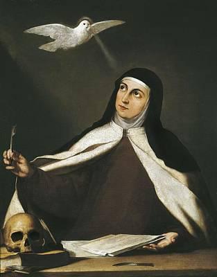 Ribera, Jos� 1588-1652. Santa Teresa De Poster by Everett