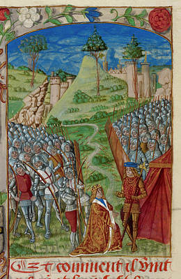 Richard I Homage To Philip Of Normandy Poster by British Library