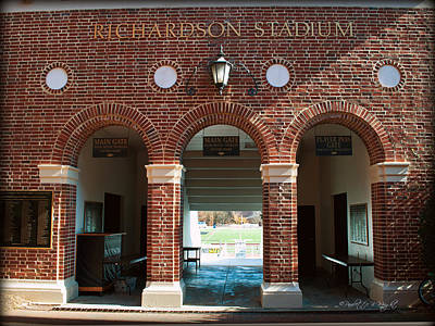 Richardson Stadium Main Gate - Davidson College Poster by Paulette B Wright