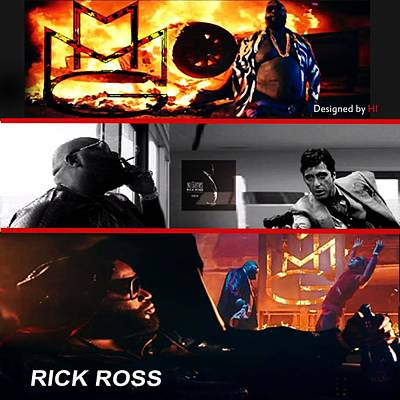 Rick Ross Poster by HI Designs Amor Blu Group LLC