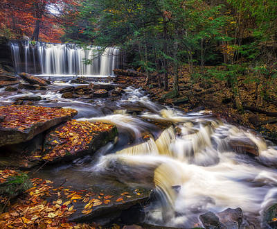 Ricketts Glen Oneida Falls Poster by Mark Papke