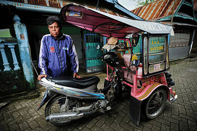 Rickshaw Driver With Leprosy Poster by Matthew Oldfield