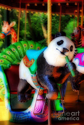Ride The Panda Poster by Skip Willits