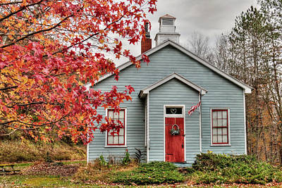 Ridge Road Schoolhouse Poster by Lori Deiter