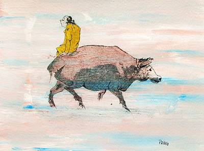 Riding A Blind Ox In Search Of The Tiger Poster by Roberto Prusso