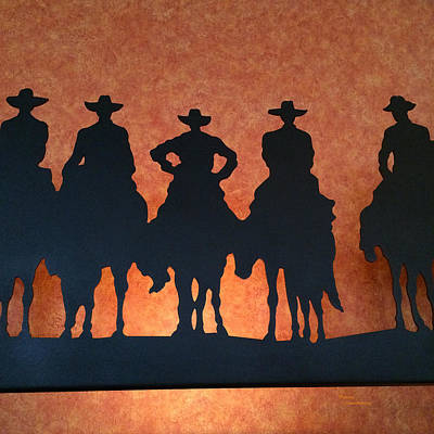 Riding Into The Sunset Poster by Patricia Januszkiewicz