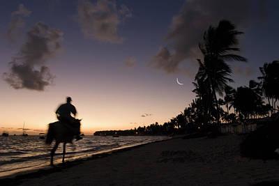 Riding On The Beach Poster by Adam Romanowicz