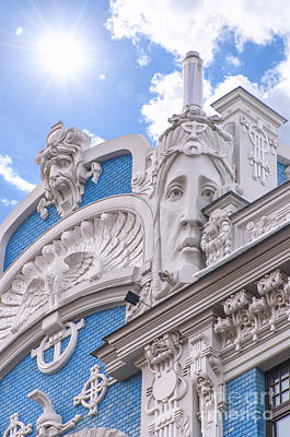 Riga Art Nouveau District 01 Poster by Antony McAulay