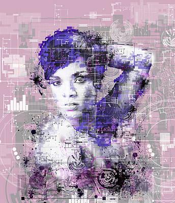 Rihanna 3 Poster by Bekim Art