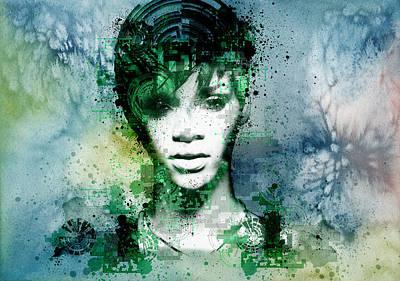 Rihanna 4 Poster by Bekim Art