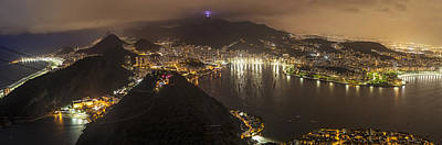 Rio De Janeiro Panorama Cityscape Poster by Mike Reid
