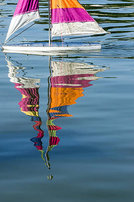 Rippling Reflections Poster by Lynn Palmer