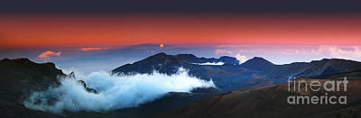 Rise And Set At Haleakala's Peak  Poster by Marco Crupi