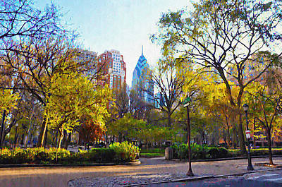 Rittenhouse Square In The Spring Poster by Bill Cannon