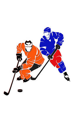 Rivalries Flyers And Rangers Poster by Joe Hamilton