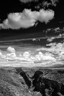 River And Clouds Rio Grande Gorge - Taos New Mexico Poster by Silvio Ligutti
