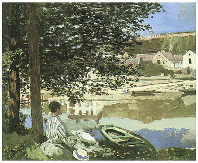 River Scene At Bennecourt Poster by Claude Monet
