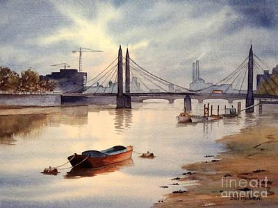 River Thames Towards Chelsea Poster by Bill Holkham