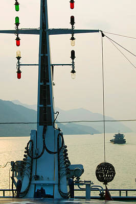 River Traffic On The Yangzi River Poster by Panoramic Images
