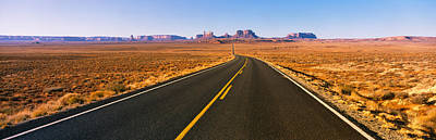 Road Passing Through A Desert, Monument Poster by Panoramic Images