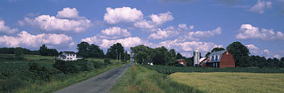 Road Passing Through A Farm, Emmons Poster by Panoramic Images